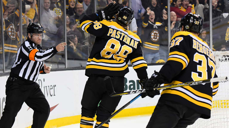 Stanley Cup Playoffs Roundup: Pastrnak, Bruins Blitz Maple Leafs for a 2-0 Series Lead