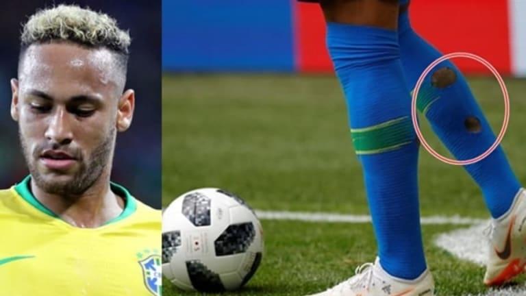 REVELADO | La razón por la que Neymar juega con agujeros en las medias durante el Mundial