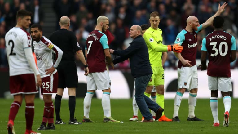 West Ham Charged Over Fan Behaviour & Pitch Invasions During Burnley Defeat in March