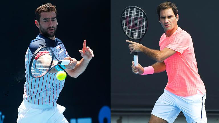 Roger Federer, Marin Cilic Set to Reprise Wimbledon Final at Australian Open