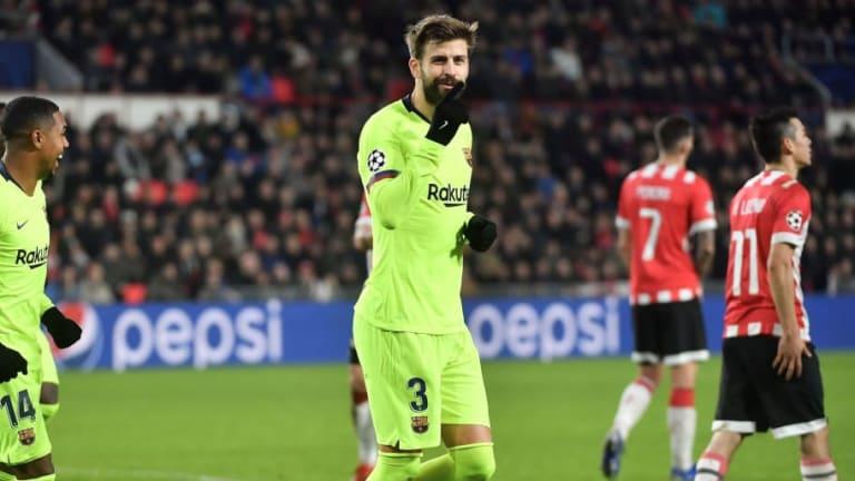 Piqué se convirtió en el defensa que más goles ha marcado en Champions con el Barcelona