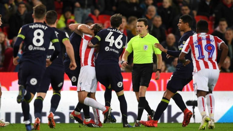 Joe Allen Dismisses Claims He Was Bitten by Bradley Johnson in Stoke's Win Over Derby