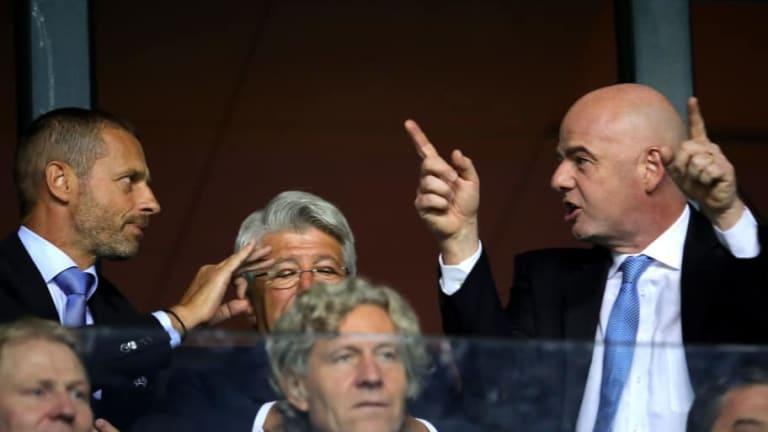 La UEFA se postula en contra de los nuevos torneos que propuso FIFA