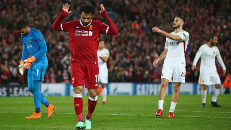 VIDEO: Roma Star Impressed By Anfield as He Greets Former Teammate Mohamed Salah Before UCL Clash