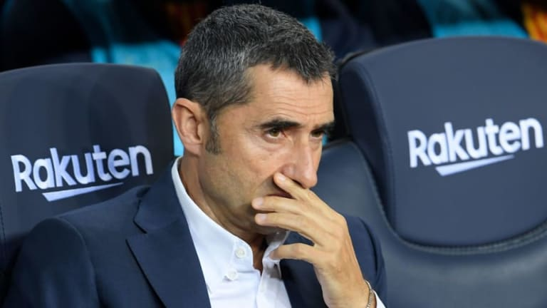 ​Ernesto Valverde Admits Concerns About Barcelona's 'Difficult' Champions League Group