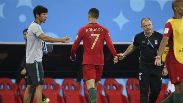 Fernando Santos Defends Cristiano Ronaldo After Portugal Star Storms Off Following Iran Draw