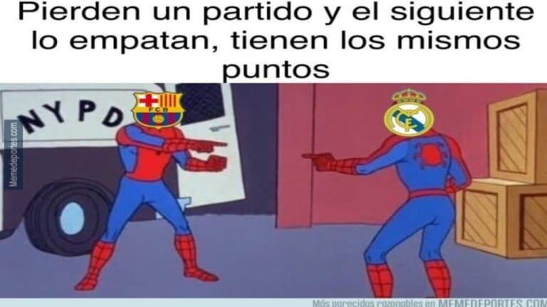 Los mejores 'memes' del nuevo fiasco del Barça, la ocasión perdida del Madrid y más