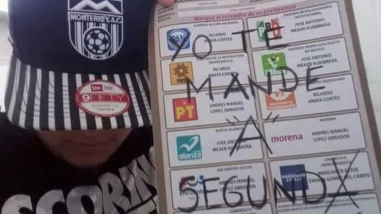 SOLO EN MÉXICO   el pueblo mexicano anotó al 'Chucky' Lozano en las elecciones presidenciales