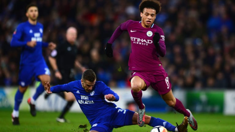 Leroy Sane Could Be Sidelined for Around a Month Following Horror Tackle in FA Cup Tie With Cardiff