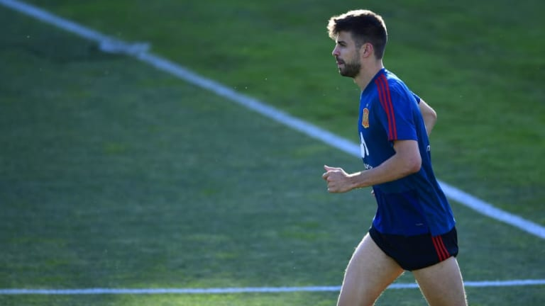 Spain Handed Injury Scare After Gerard Pique Suffers Ankle Knock in Training Ahead of Russia Tie