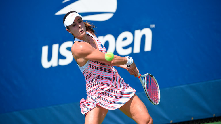 Alize Cornet Penalized For Briefly Taking Off Shirt on Court Due to Heat At U.S. Open