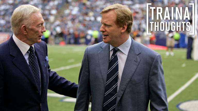 Traina Thoughts: Roger Goodell Can't Even Win PR Battle Against Jerry Jones