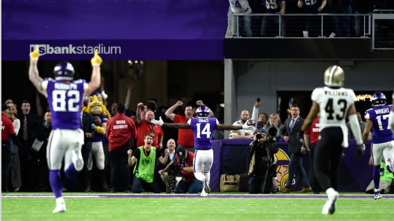Case Keenum, Stefon Diggs Connect on Walk-off Touchdown to Put Vikings One Win From Super Bowl