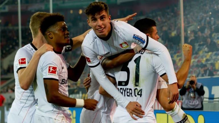 Inter Scout Bayer Leverkusen Wonderkid Kai Havertz During Europa League Group Stages