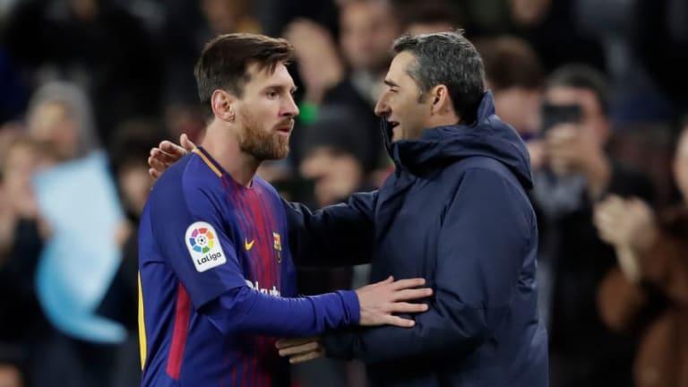 Lionel Messi Hopeful Barcelona Boss Ernesto Valverde Will Extend Camp Nou Stay