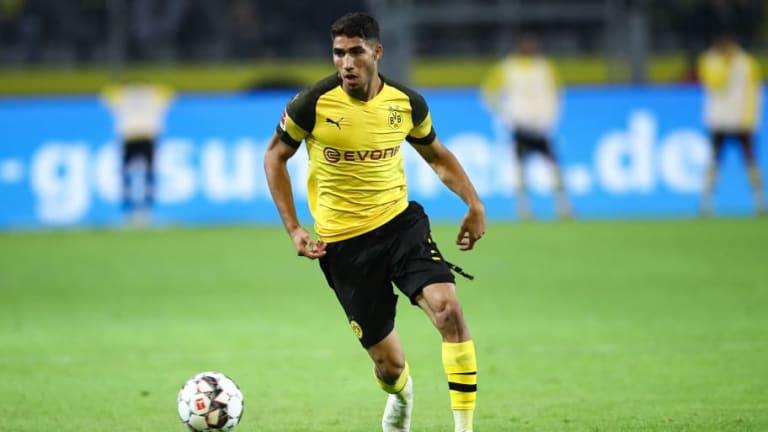 Achraf no piensa en el Real Madrid tras debutar con gol en el Borussia Dortmund