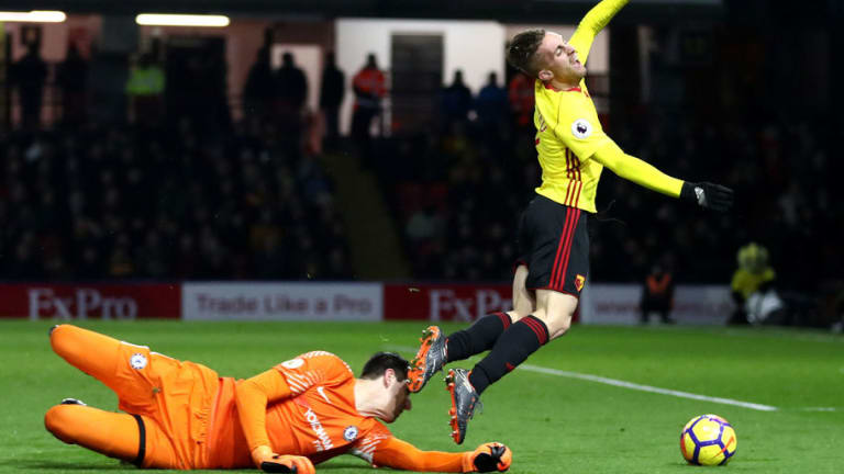 Thibaut Courtois Insists Gerard Deulofeu 'Dived' for Penalty in Nightmare Defeat at Watford