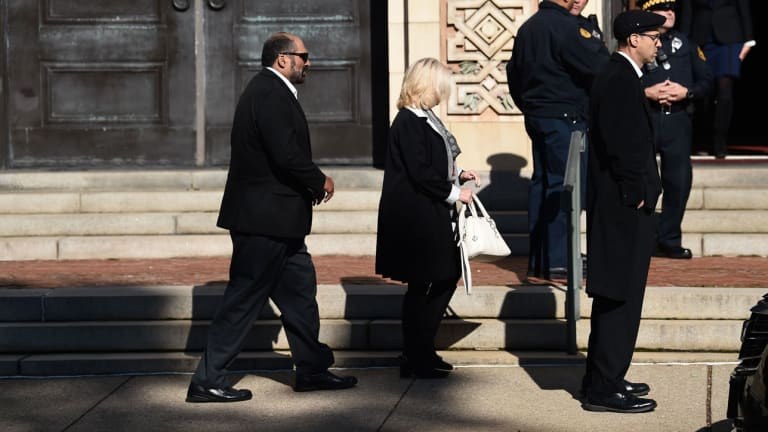 Steelers's Mike Tomlin, Ben Roethlisberger and Team Attend Funeral Service for Two Tree of Life Victims