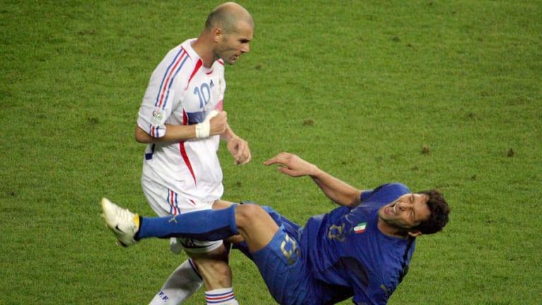 PHOTO: World Cup Winning Defender Reveals Hilarious Wall Art of Zinedine Zidane Headbutt