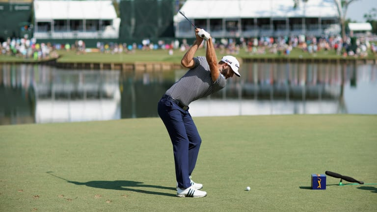 Dustin Johnson Part of Six-Way Tie for Lead at Players
