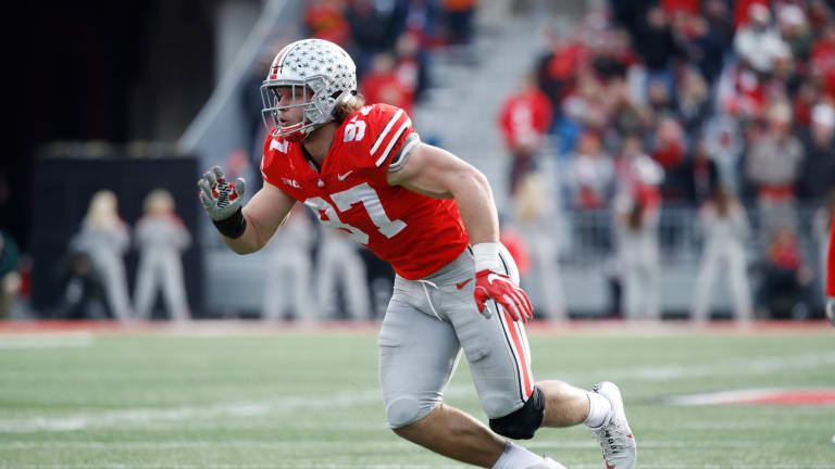 Ohio State's Nick Bosa Out vs. TCU With Apparent Groin Injury