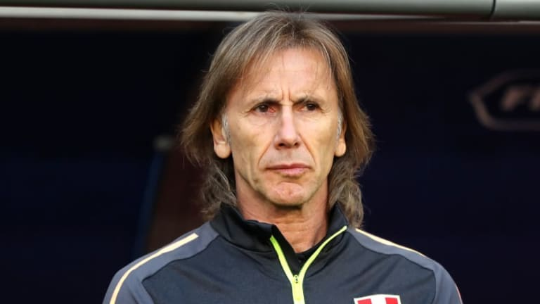 Ricardo Gareca Praises 'Great Side' Denmark After Peru Slip to Defeat on World Cup Return