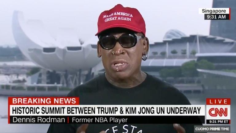 Watch: Dennis Rodman Gets Emotional Discussing Donald Trump-Kim Jong Un North Korea Summit
