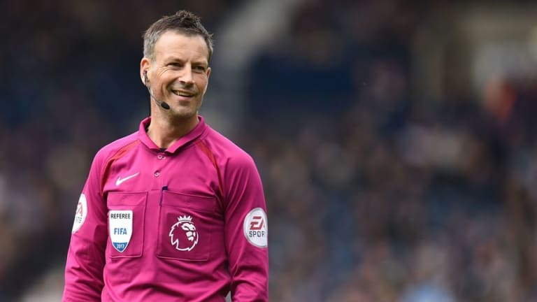 VIDEO: Mark Clattenburg Reacts Brilliantly to Being Hit in the Face With a Bottle