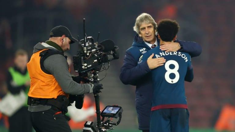 Manuel Pellegrini Praises Felipe Anderson After Winger's Brace Beats Southampton