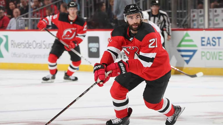 Palmieri Scores Two Goals for a Third Straight Game, Devils Win