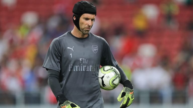 ESPN Pundit Jokes That Petr Cech Is 'Getting Ready' to Leave Arsenal Following Rap Performance