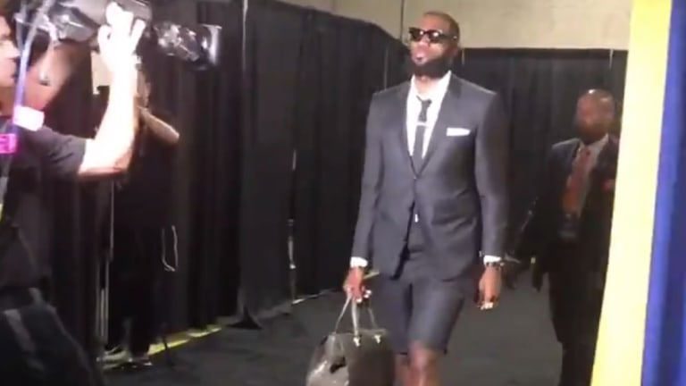 Watch: LeBron James Wears Shorts With His Suit to Game 1 of the NBA Finals
