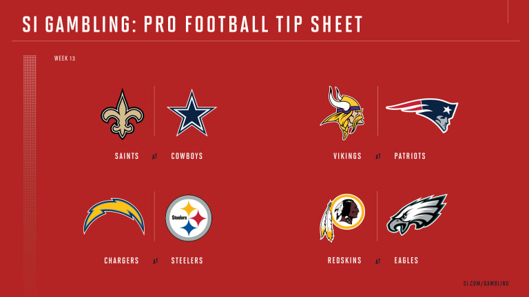 Weekly Tip Sheet: The Complete Printable Betting Guide to NFL Week 13 Games