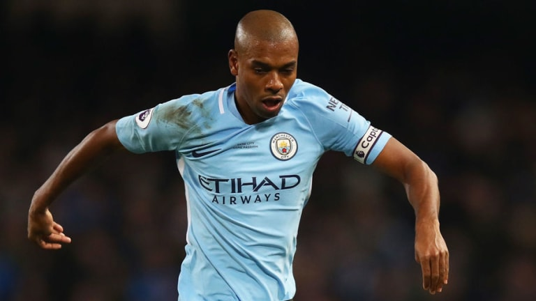Fernandinho Ruled Out of Arsenal Clash But Man City Confirm Hamstring Problem 'Isn't Serious'