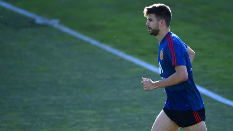 Spain Sweat Over Gerard Pique's Fitness for Russia Match After He Suffers a Collision in Training