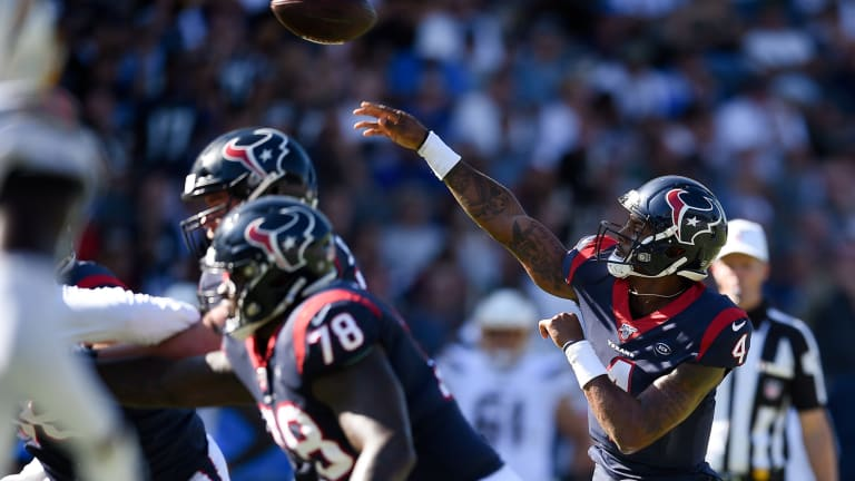 Revamped Texans Offensive Line Has the Baltimore Ravens Attention Heading to Sunday