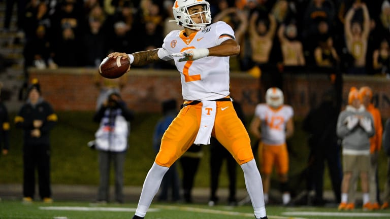 Guarantano's Career-Best Performance Leads Tennessee past Missouri