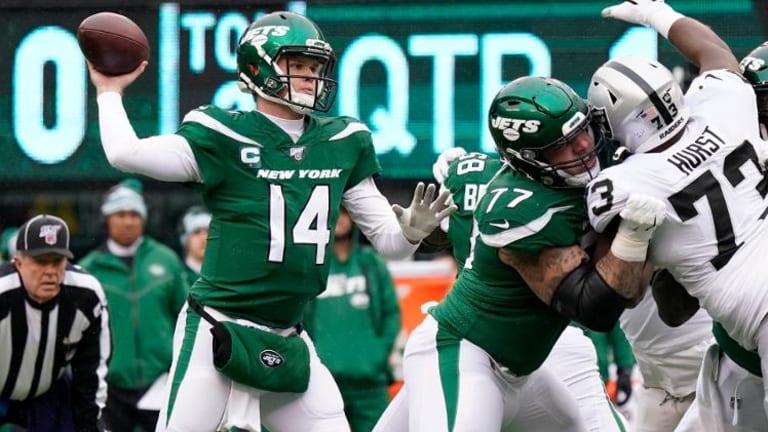 Darnold, Jets Embarrass Raiders, 34-3