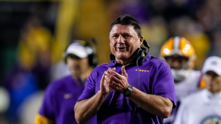 LSU Ranked No. 2 in College Football Playoff Following 56-20 Win Over Arkansas