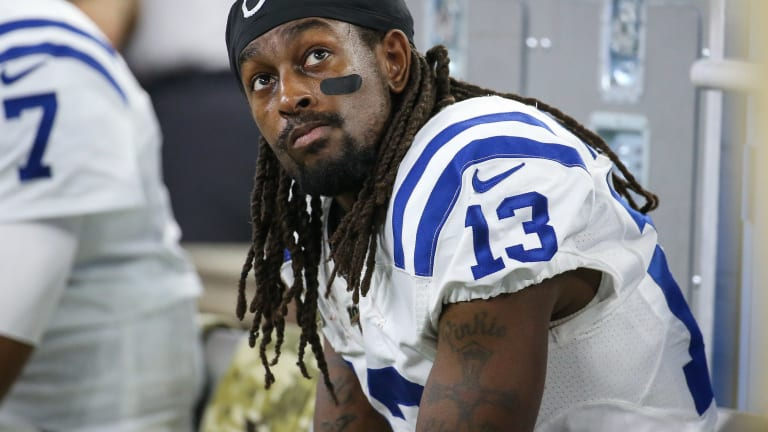 Colts' T.Y. Hilton Aggravates Calf Strain, Ruled Out For Sunday