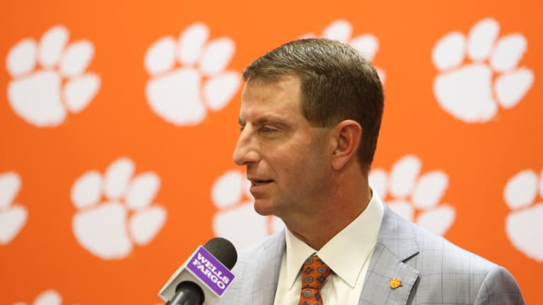 Swinney Takes Up for Himself, the ACC and His Players