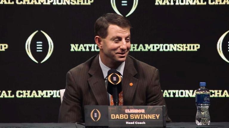 Clemson Head Coach Dabo Swinney Is Not a Fan of Expanding the Playoff