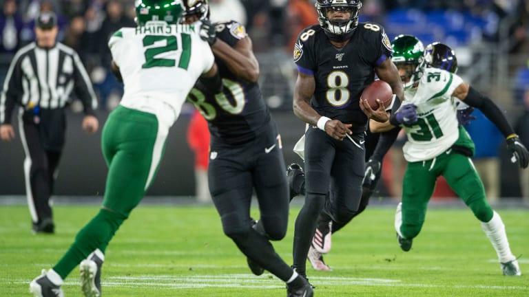 Lamar Jackson Breaks QB Rushing Record