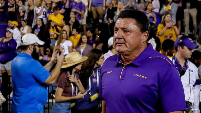 LSU Coach Ed Orgeron Named Walter Camp Coach of the Year