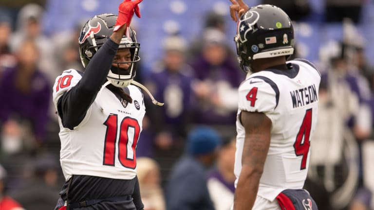 DeAndre Hopkins, Deshaun Watson, and Five Other Texans Ruled Questionable for Season Finale