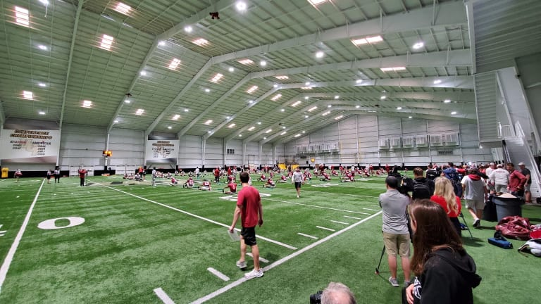 Video Recap: Alabama Football Practices at UCF Indoor Facility