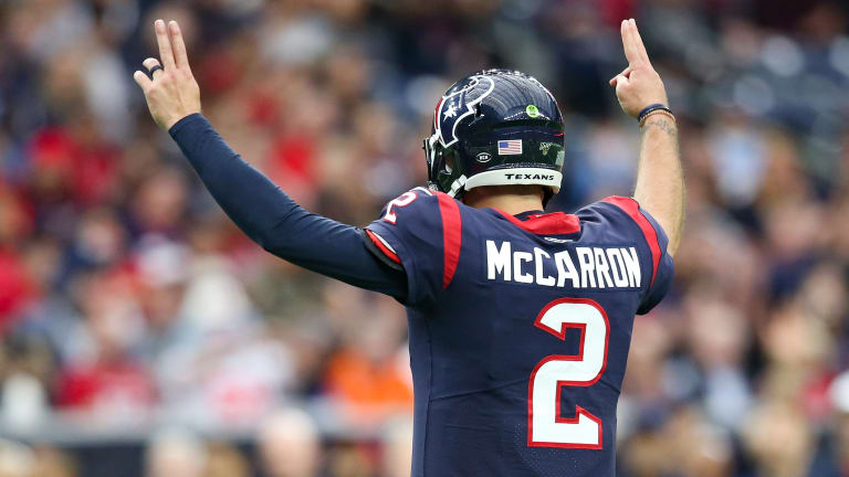 Seven From Sunday: A.J. McCarron Makes His First Start for The Texans Count