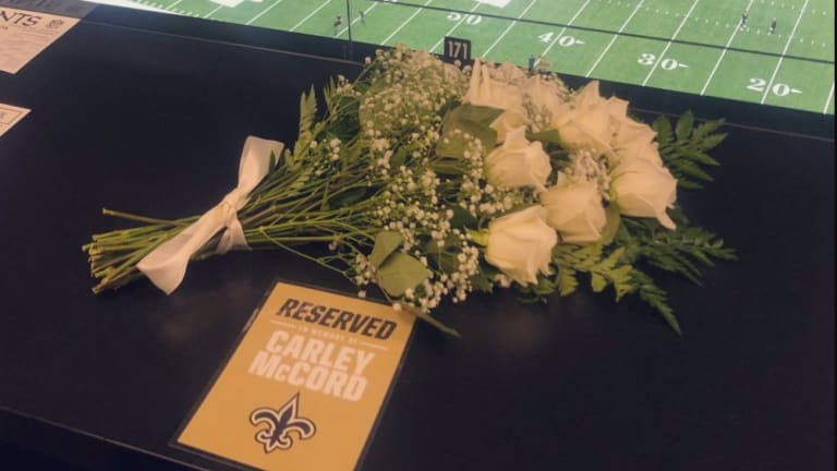 Saints Honor Late Reporter Carley McCord With Press-Box Seat at Superdome