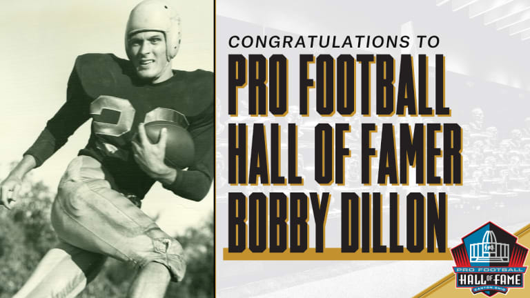 One-Eyed Interception-Machine Dillon Picked for Hall of Fame