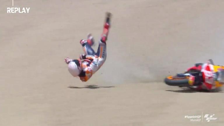 MotoGP Champion Marc Marquez Breaks Arm in Horrifying Crash